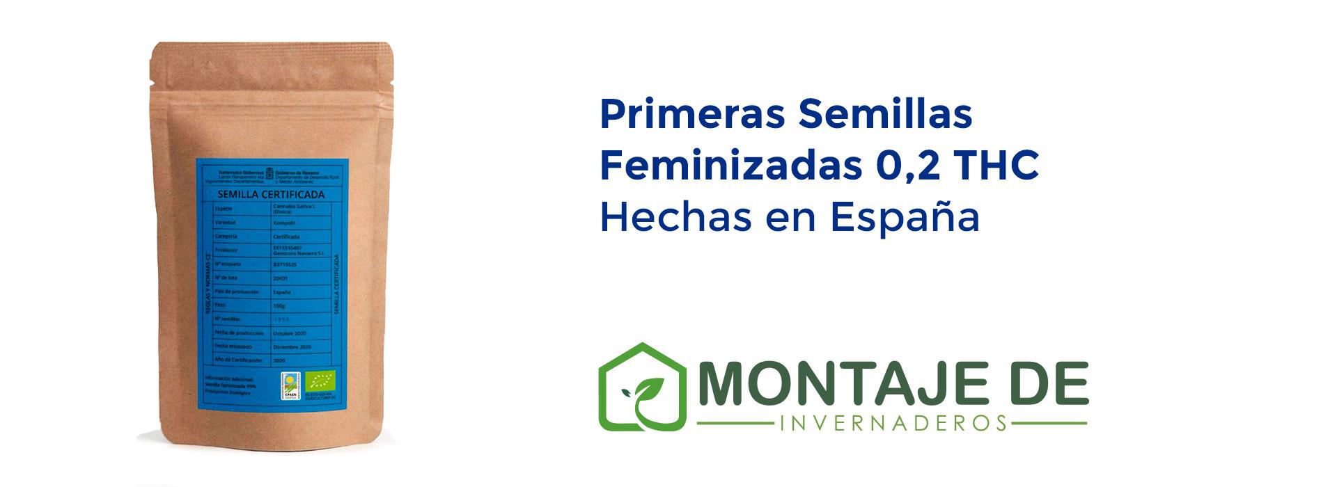 Las primeras semillas feminizadas de 0,2 THC hechas en España con etiquetas registrada en el catálogo Europeo.